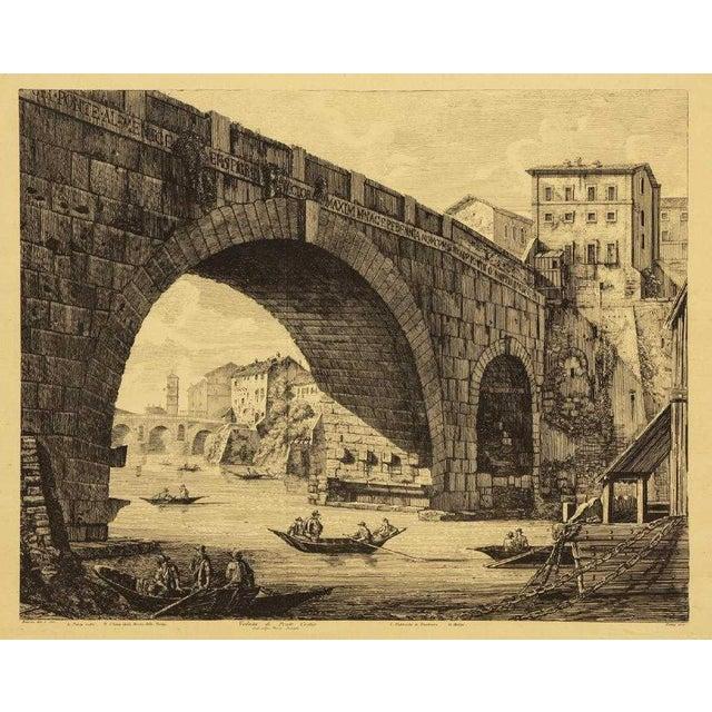 Luigi Rossini (1790-1857) Roman Folio Etchings - Set of 2 For Sale - Image 4 of 7