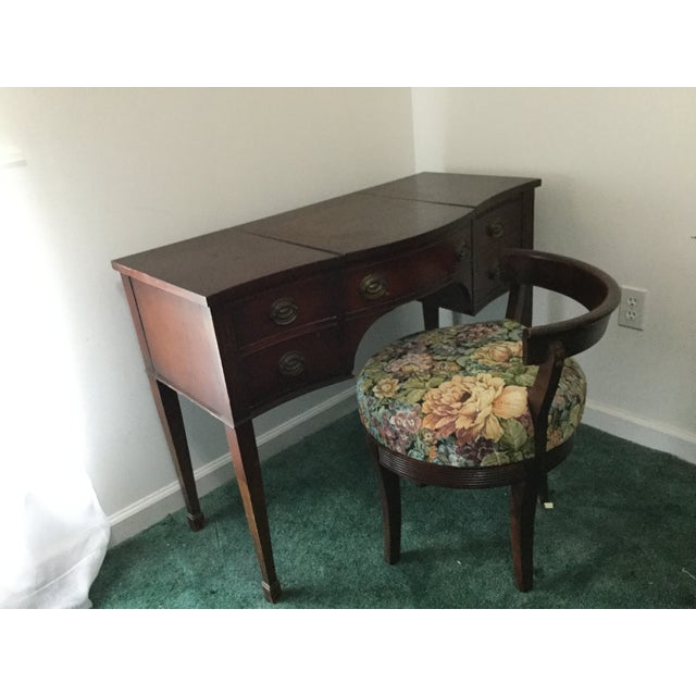 Drexel 1960s Vintage Dressing Table and Stool For Sale - Image 4 of 12