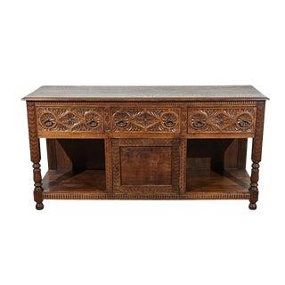 English Oak Renaissance Revival Dresser Base For Sale