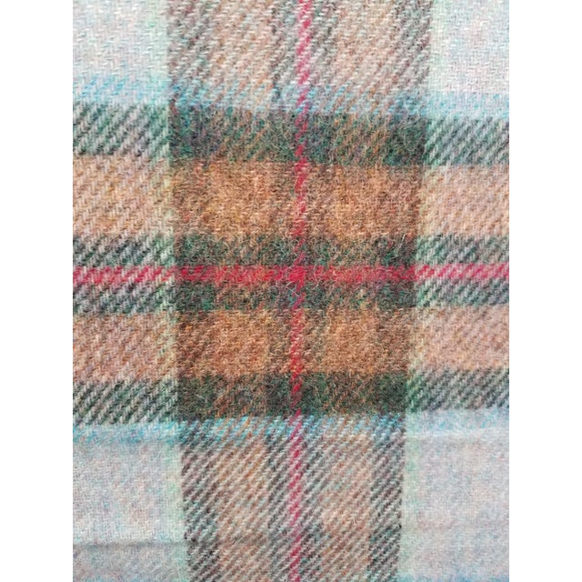 Wool Throw Red Blue Orange Plaid - Made in England For Sale - Image 10 of 12