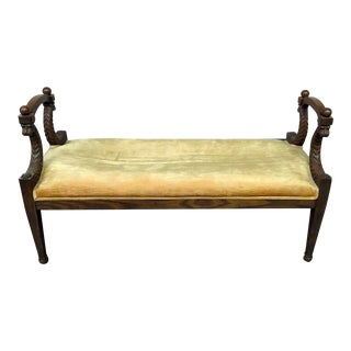 Neoclassical Style Window Bench For Sale