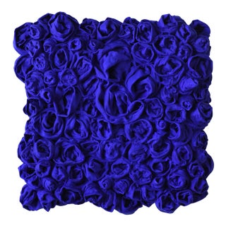 """Ultra Blue Rosettes"" Mixed Media Wall Sculpture For Sale"