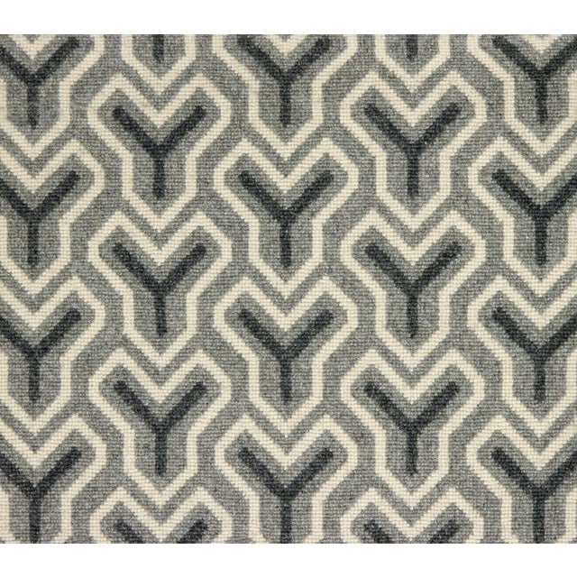 """Made of 100% wool. The pattern repeat is 9"""" x 9""""."""