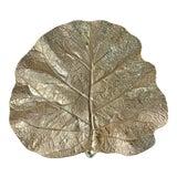 Image of Massive Cast Brass Fiddle Leaf Fig Leaf Dish For Sale