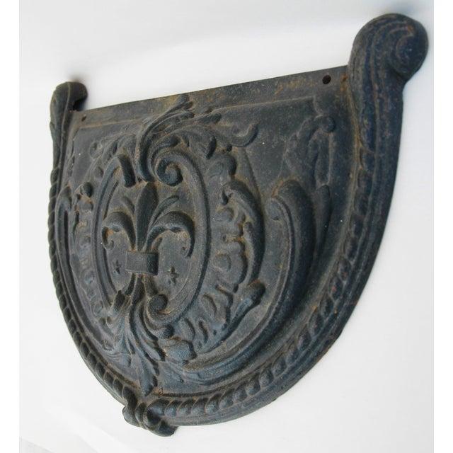 19th C. French Fleur-De-Lis Iron Relief Plaque - Image 7 of 8