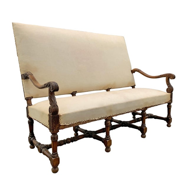 French Louis XIV Settee For Sale - Image 3 of 11