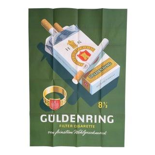 Original Vintage Advertising Guldenring Cigarettes Poster