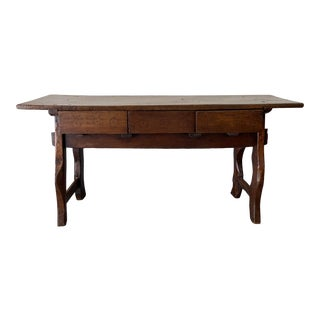 Antique 18th Century Spanish Table or Desk For Sale