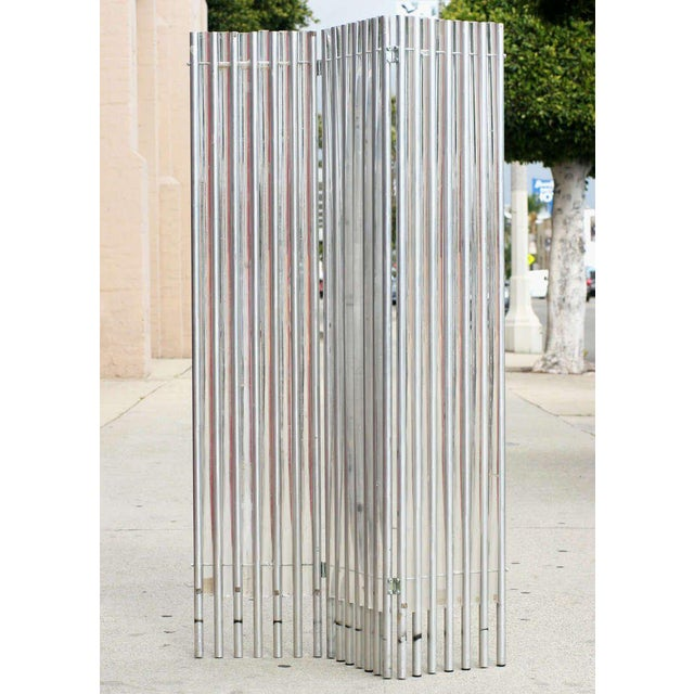 Lucite and Aluminum Wall Divider by Charles Hollis Jones - Image 5 of 6