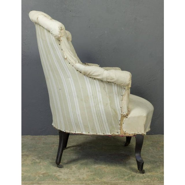 Pair of French Armchairs in Muslin - Image 4 of 11