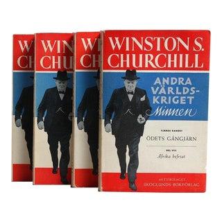 Churchill's Second World War Memoirs Books - Set of 4