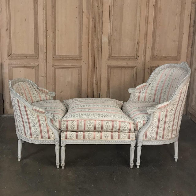 19th Century French Louis XV Chaise Duchesse Brisee (Chaise Lounge) For Sale - Image 13 of 13