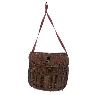 Vintage French Provencal Fishing Creel Basket For Sale