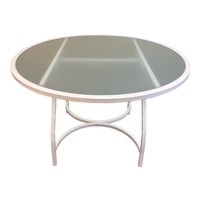 Janus Et Cie Frosted Glass Dining Table For Sale