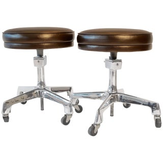 Two Reliance Industrial Stools
