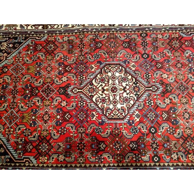 1950s Persian Handmade Village Carpet Rug 4′3″ × 6′11″ For Sale - Image 4 of 13