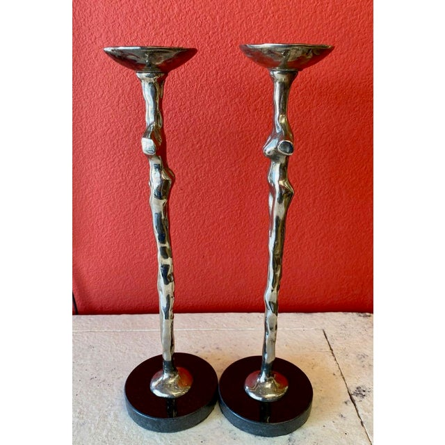 "Michael Aram Michael Aram ""Adam and Eve"" Candlesticks - a Pair For Sale - Image 4 of 7"