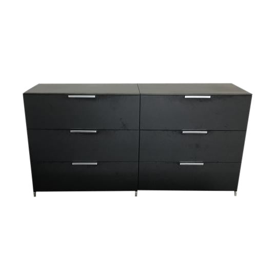 ligne roset everywhere modern ebony oak dresser chairish. Black Bedroom Furniture Sets. Home Design Ideas