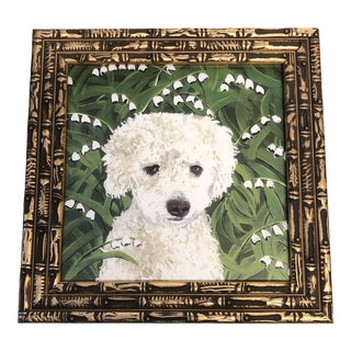Poodle Dog Print by Contemporary Artist Judy Henn For Sale