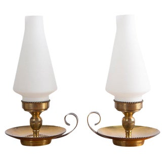 Rare Set of Two Stilnovo Lamps