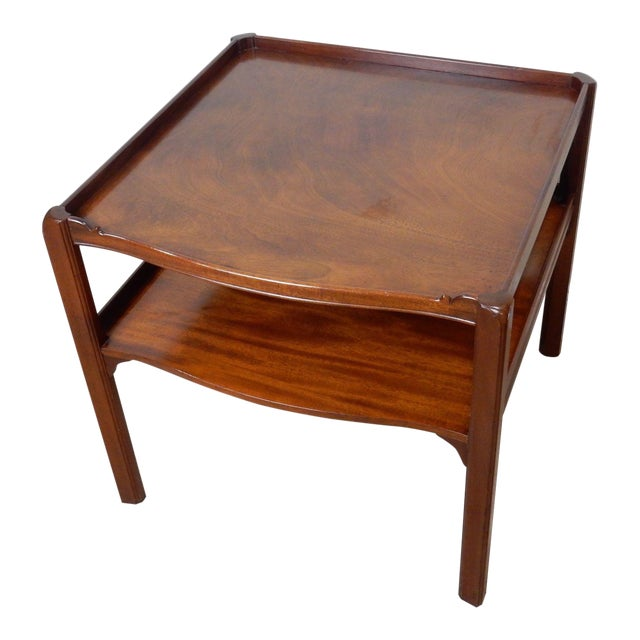 Baker Furniture Large 2 Tier Mahogany Table - Image 1 of 11
