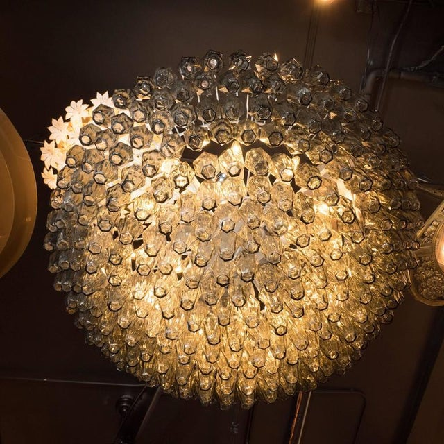 Mid-Century Modern Modernist Handblown Murano Polyhedral Chandelier in Smoked Pewter For Sale - Image 3 of 8