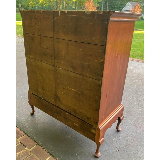 Antique 18th Century Colonial Chest on Stand For Sale - Image 4 of 10