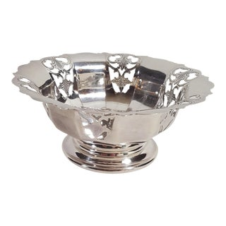 1920s Antique Mappin and Webb Silver Plated Candy Dish For Sale