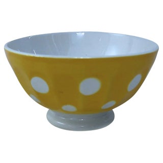 French Polka Dot Cafe Au Lait Bowl For Sale