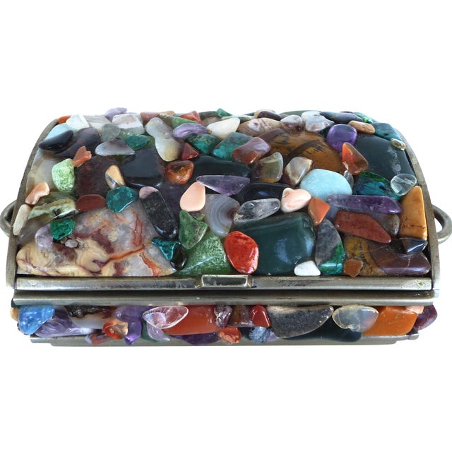 Stone Encrusted Domed Trinket Box - Image 1 of 7