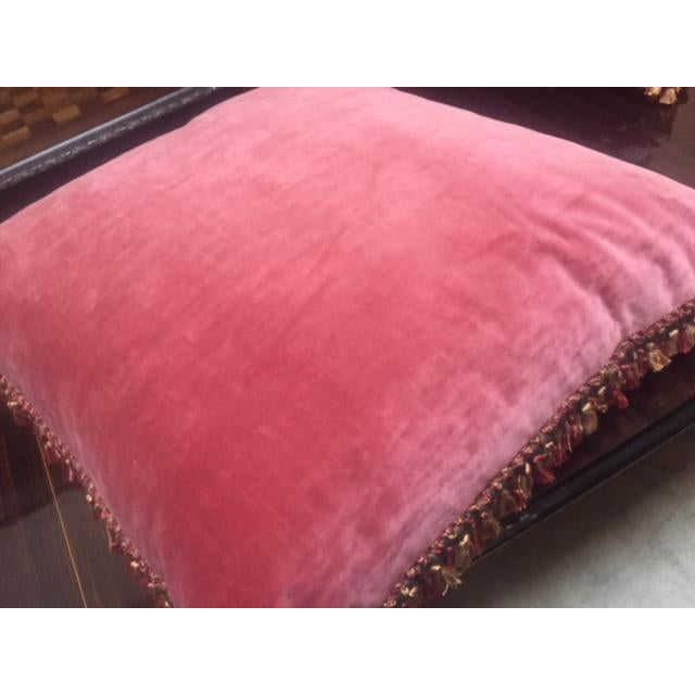 Transitional 19th C. French Pink Aubusson Pillows For Sale - Image 3 of 7