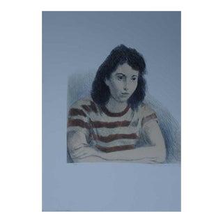 Raphael Soyer, Litho of Girl American 1899-1987 For Sale