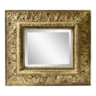 Ethan Allen Gilt Decorative Mini Mirror For Sale