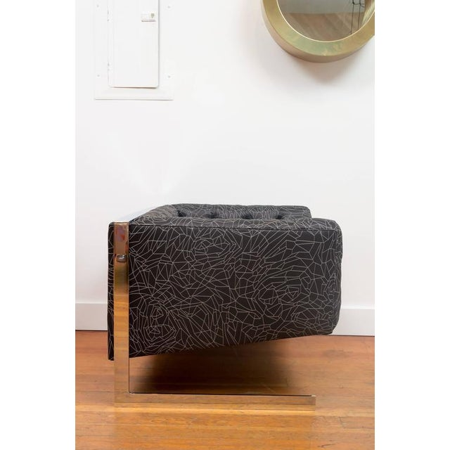 Milo Baughman Cube Chair For Sale - Image 5 of 6