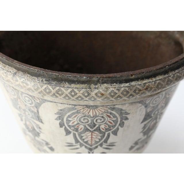 Enameled Cast Iron Rouen Urn For Sale - Image 4 of 13