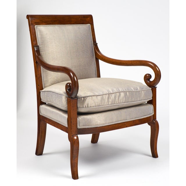 19th Century French Restauration Period Walnut Armchair - Image 3 of 11