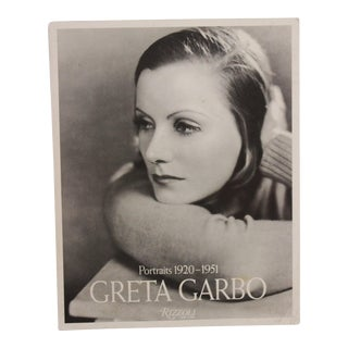 """Vintage """"Portraits 1920-1951 Greta Garbo"""" Book 1st Edition Owned by Photographer Issa-Khan For Sale"""