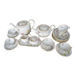 Butterfly Garden Tea & Coffee Full Service for 6 - 22 Pc. Set For Sale
