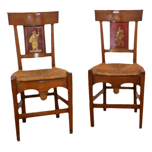 19th Century Painted Italian Side Chairs - A Pair For Sale