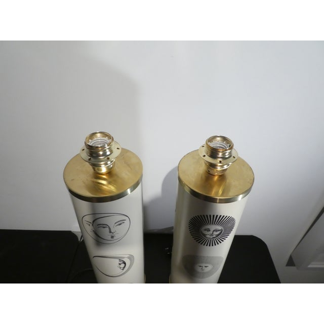 1960s Vintage Sole Fornasetti Table Lamps - a Pair For Sale In Miami - Image 6 of 9