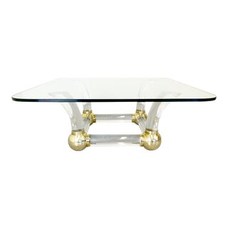 1980s Hollywood Regency Karl Springer Style Cocktail Table For Sale