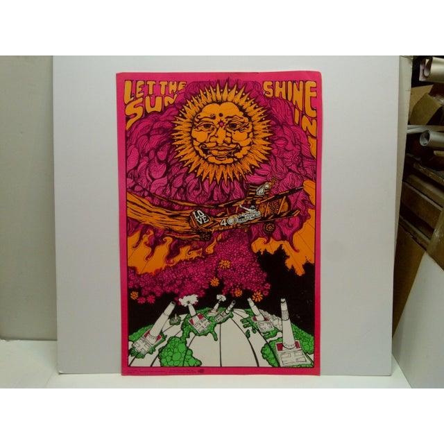 "Paper Vintage ""Let the Sun Shine In"" Blacklight Poster For Sale - Image 7 of 7"