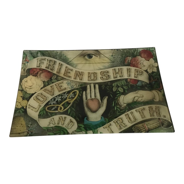 Joh Derian Friendship, Love and Truth Letter Tray - Image 1 of 4