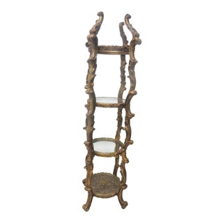 Italian Style Gilt Carved Etagere