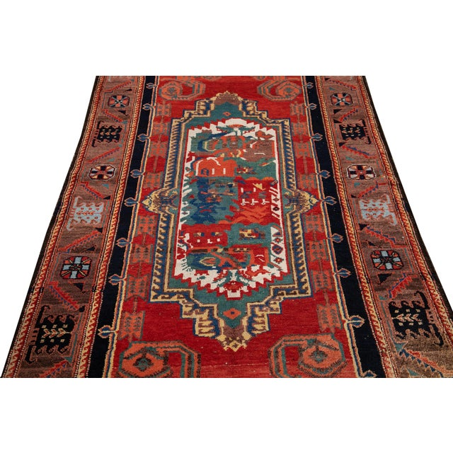 Mid-20th Century Vintage Wool Rug 4' 5'' X 8' 8''. For Sale - Image 12 of 13
