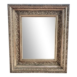 Handsome and Substantial Golden Wall Mirror For Sale