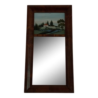 Reverse-Painted Federal Wall Mirror For Sale