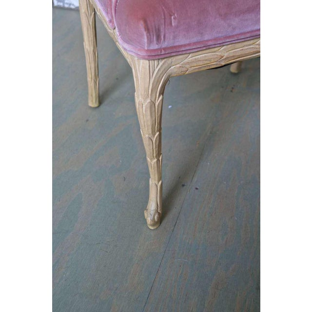1960s 1960s Hollywood Regency Hand-Carved Dining Chairs - Set of 6 For Sale - Image 5 of 11