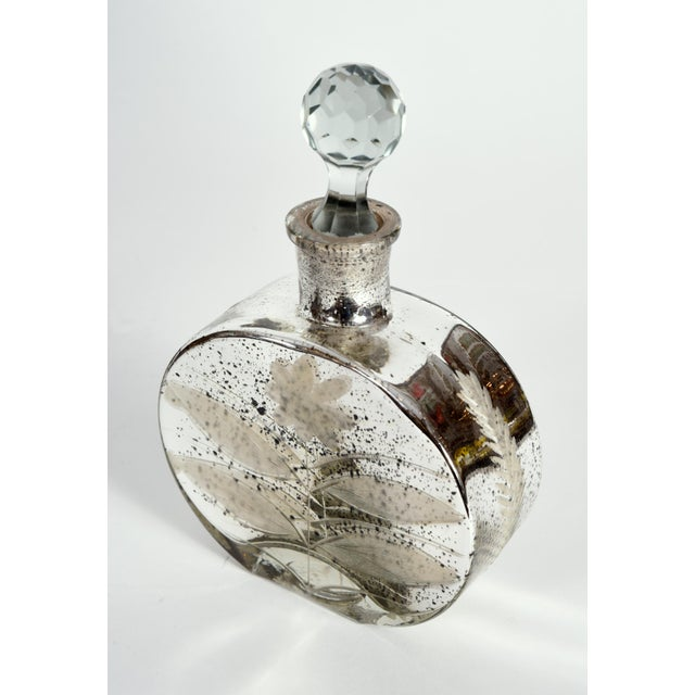 Mercury Glass Decorative Bottle Vanity Piece For Sale In New York - Image 6 of 7
