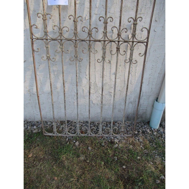 Traditional Antique Victorian Iron Gate Window Garden Fence Architectural Salvage Door #042 For Sale - Image 3 of 6